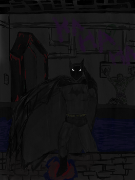 Batman in the sewers by hope1222