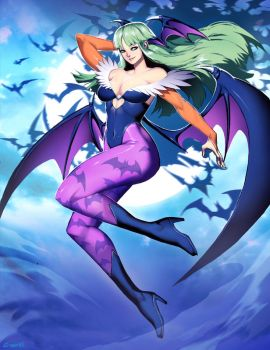 Morrigan - Darkstalkers by GENZOMAN