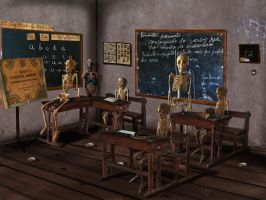 Skull in The School by Energiaelca1
