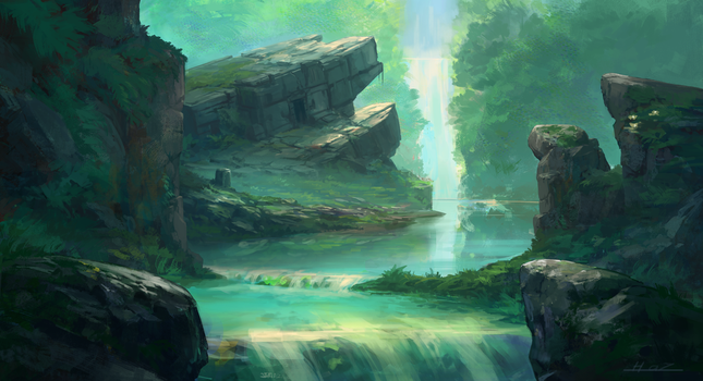 Ancient Temple by HazPainting