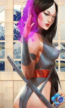 X-Men: Psylocke by dr-conz