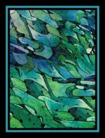2361 blue abstract green 1632 by santosam81