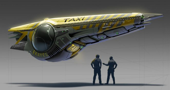 Flying Floating Taxi by michaellimsstuff