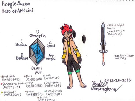 New Character Reveal: Korgie Sasson by Dell-AD-productions