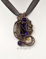 Dichroic steampunk pendant 2 by ukapala