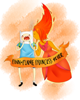 Finn + Flame Princess 4EVER / color :B by Flasho-D