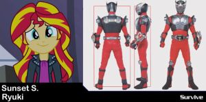 Sunset Shimmer as Kamen Rider Ryuki by VanossFan28