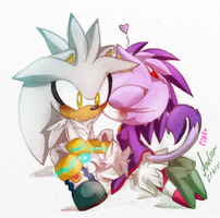 Silver and Blaze color in by HaleyxH
