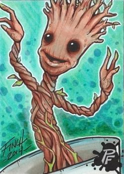 I am Baby Groot by PatrickFinch