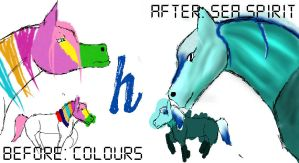 ''Colours'' Before and After by horses27