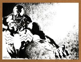Venom Black and White 122312 by ChrisMcJunkin