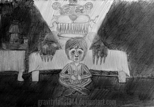 Fnaf 4 child in his room by gravityfalls1344