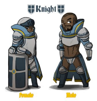 Reverse game stereotype design - Knight by spidercandy