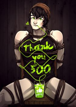 Thank You - 500+ fb likes by goyong