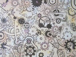 Cogs Canvas by crashingwave