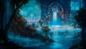 Temple of Mist by PixelObsession