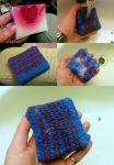 Felted soap, blue Crazy Cupid by KnitLizzy