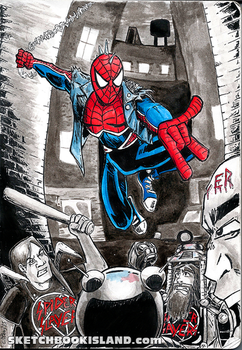 From the sketchbook:Spider-Punk by DGGibbons