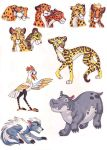 TLK Cheetah study and Lion Guard redesigns by WhiteFangKakashi300