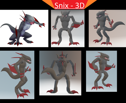 Snix in Paint 3D by elitghost