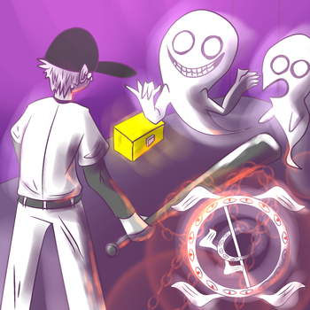 One hour draw2 - The Batter faces white ghouls by Lo-Mlatu