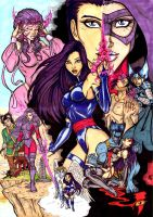 Life of Psylocke - colours by CrimsonArtz
