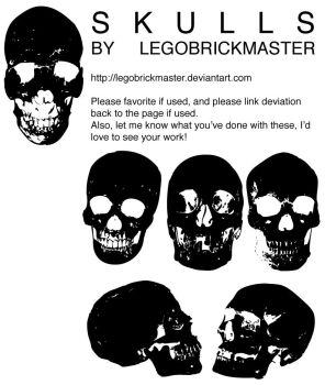 Skull Vector Package EPS by legobrickmaster