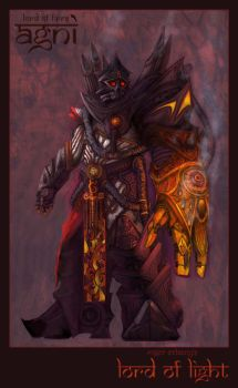 Agni, Lord of Fire by jubjubjedi
