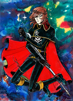 Space Pirate Captain Harlock by SEPULCHRITUDE