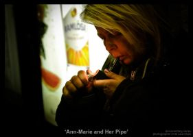 Ann-Marie and Her Pipe by MrColon