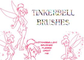 Tinkerbell Brushes by djtinkabell241