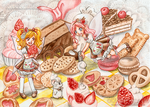 Myrtille, Kiwi and Cactus: Cake Party Time! by oOFlorianeOo