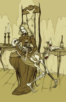 Drinking with Skeletons by AbigailLarson