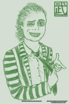 Beetlejuice Sketch by TakeshiKun