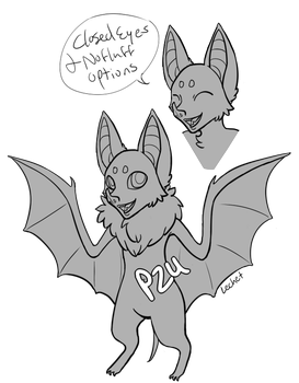[P2U] Bat Anthro Base by Lechet-Adoptables