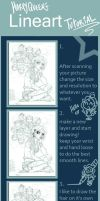 Lineart tutorial by Harpyqueen