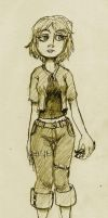 XIII Girl standing there by sindaran-ainu