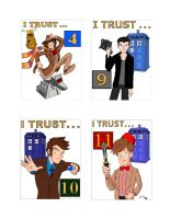 I Trust the Doctor Complete Badge Set by KnoppGraphics