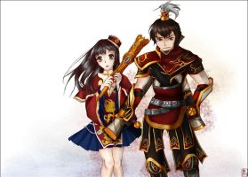 DW7_Sun Ce and Da Qiao by Draven4157