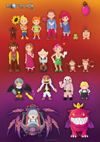 Mother 3 character poster by Kosmotiel