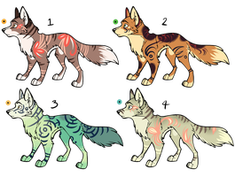 Assorted Canine Designs Batch 23 (CLOSED) by Nocitae