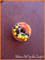 Halloween Sprinkled Doughnut by cupcakecutiefriends