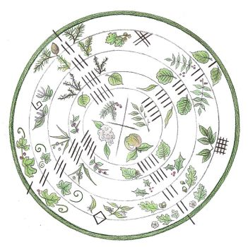 Ogham Wheel by Spiralpathdesigns