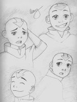 Aang Sketches by chromegoddess