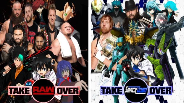 WWE Takeover RAW  SmackDown Poster by Gojimon452