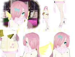 MLP Fluttershy MMD by MoonTheBlueNeko