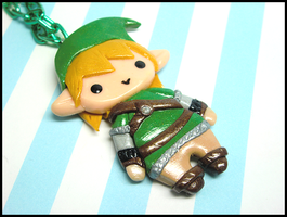 Chibi Link Necklace by GrandmaThunderpants