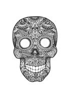 Acid Candy Skull in BW by th451