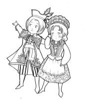 polish coloring pages | Traditional Polish Dress by lavenly on DeviantArt