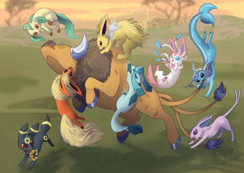 Eeveelution Pack by lizspit